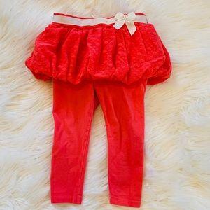 Circe coral leggings with tutu skirt